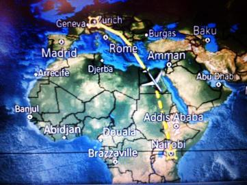From Zurich to Nairobi on Swiss Air