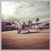 The plane I flew from Dar Es Salaam to Zanizibar