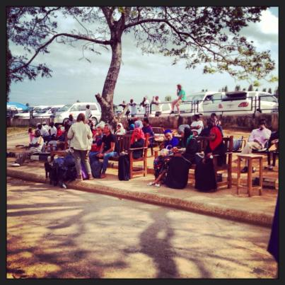 The waiting area at the Zanzibar airport.