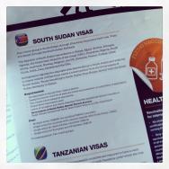 Visa information in the airline magazine.