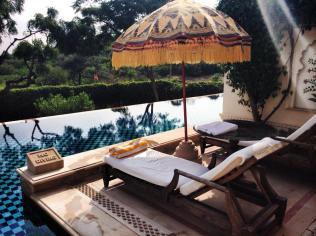 Hotel room lounge chairs.
