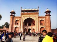The entry gate to the Taj Mahal