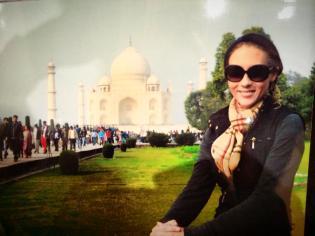 Me in front of the Taj.