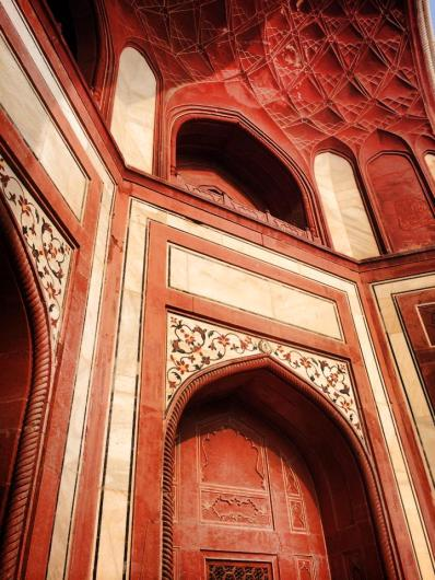 The entrance to the Taj; detail.