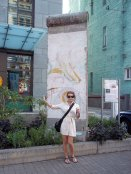 Me, in front of a piece of the Berlin Wall.
