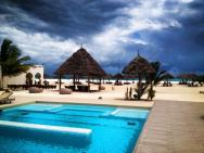 The pool, looking towards the private beach.