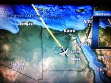 Flying over Egypt en route to Nairobi.