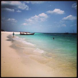 The private beach at Gold Zanzibar.