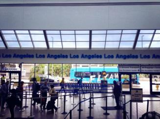 Flying out of LAX.