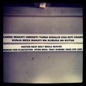 Instructions in the local language.