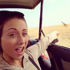 Spotting giraffes in the Serengeti National Park, Kenya.
