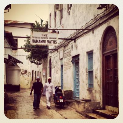 Near the old Persian bathhouse.