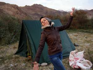 Me, in front of my tent!
