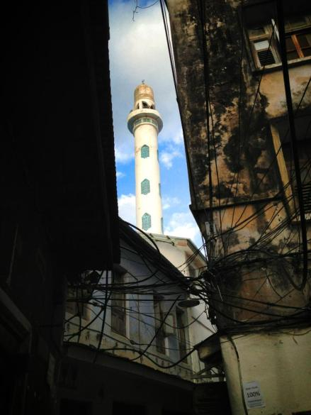 A minaret in Stone Town.
