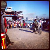 The ferry to Stone Town arrives!