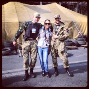 Hanging with the Maidan guards!