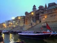 Sunrise at Varanasi from the Ganges.