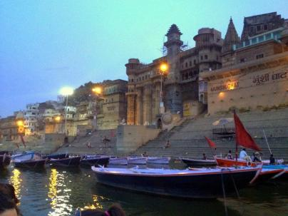Sunrise at Varanasi from the Ganges.