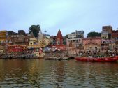 The banks of the River Ganges at Varanasi.