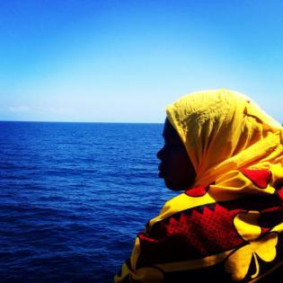 On the ferry ride to Stone Town, Zanzibar.