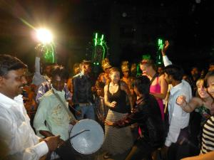 Dancing my heart out in the streets of Varanasi