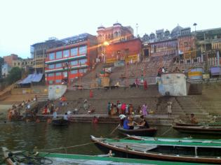 Ghats of Varanasi, after sunrise.