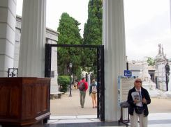 Entrance to La Recoleta Cemetery.