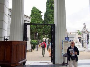 Entrance to La Recoleta Cemetery.