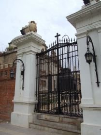 One of the gated entrances.