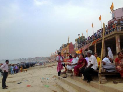 The bank of the River Ganges at Varanasi.
