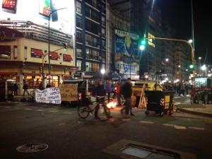 Student protestors in Recoleta.