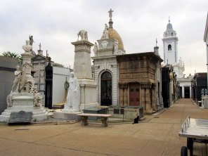 Graves at La Recoleta cemetery.