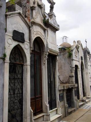 Mausoleums in the cemetery.