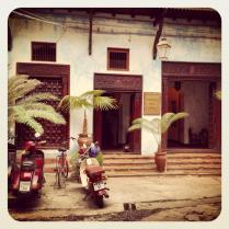A hotel in Stone Town.