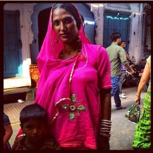 A woman who asked for her photo to be taken on the streets of Pushkar.
