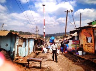 Street scene from Kibera.