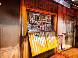 A butcher shop in Kibera.