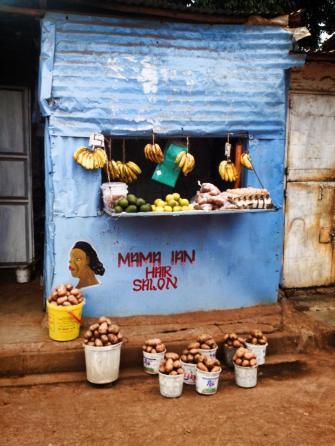 A fruit stand in Kibera.