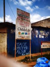 An education center inside Kibera.