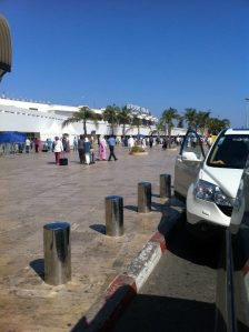 Casablanca airport, after I had finally landed (thankfully alive!)