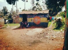 An elementary school in Kibera.