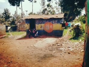 An elementary school in Kibera.