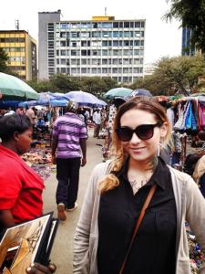 Me, at the City Market in Nairobi.
