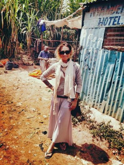 Me, taking a break from touring Kibera.