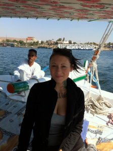 Sailing down the Nile on a felucca.