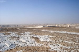 The White Desert--it's chalk dust not snow!