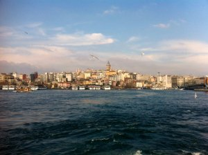 Istanbul, looking across the Bosphorus.