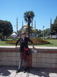 The Blue Mosque behind me.